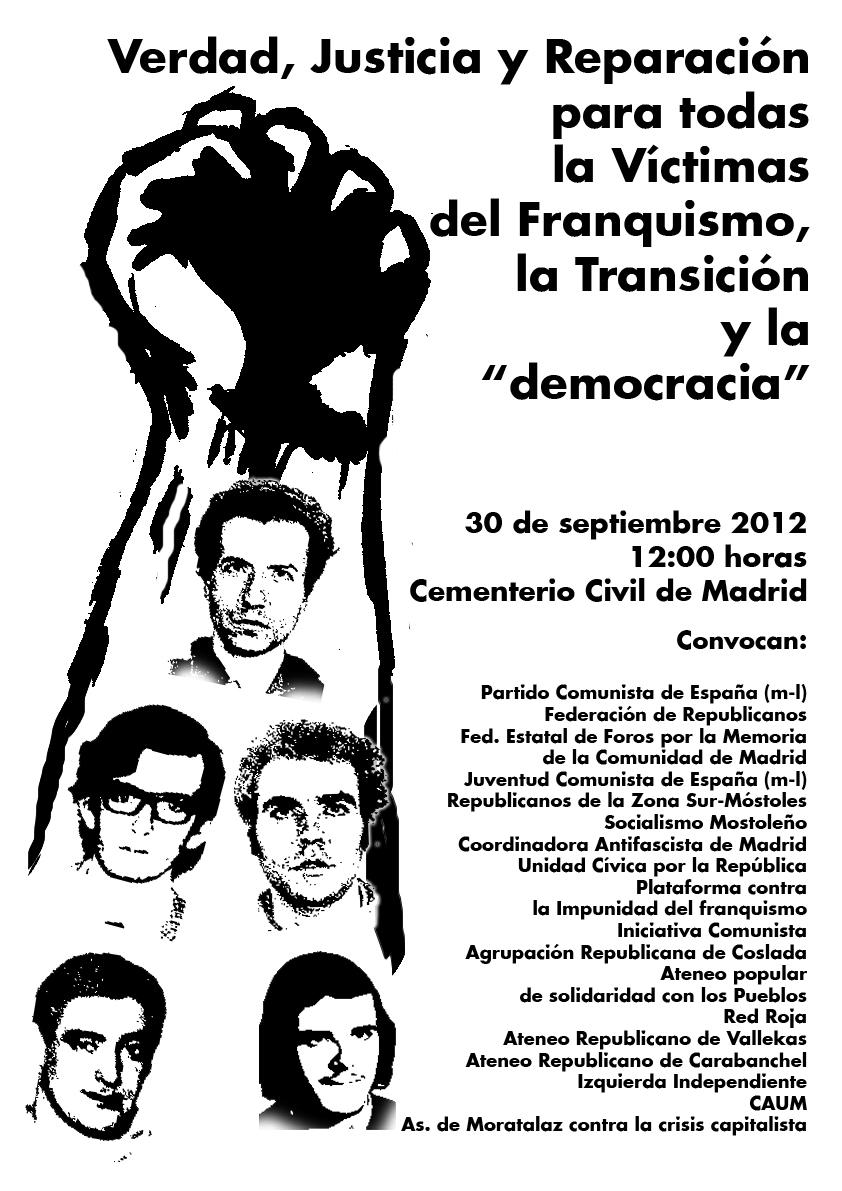 Convocatoria Madrid 30 de septiembre de 2012